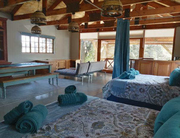 living room from bedrooms chobe loft